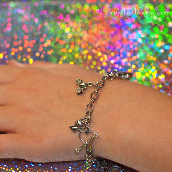 Cinderella Dreams Do Come True Magical Charm Bracelet Disney Inspired by Life is the Bubbles