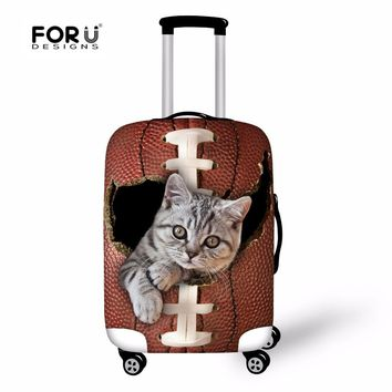 FORUDESIGNS 3D Cat Case Cover Women Protective Cover for Suitcase Men Travel Luggage Cover Stretch to 18''-30'' Case Covers Cute