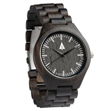 All Wood Watch // All Ebony Theo