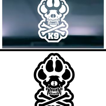 Police K-9 Vinyl Graphic Decal
