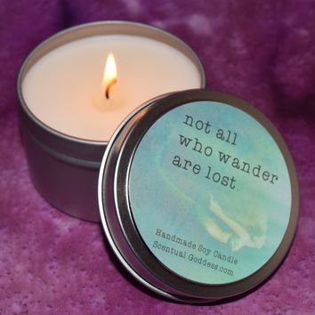 Not All Who Wander Are Lost ~ Mermaid Candle for Wild Beautiful Souls