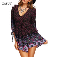 Women jumpsuit Summer Bohemian Deep V Neck Lace Tiny Floral Empire Waist Woman Romper Shorts Playsuit Overalls Macacao