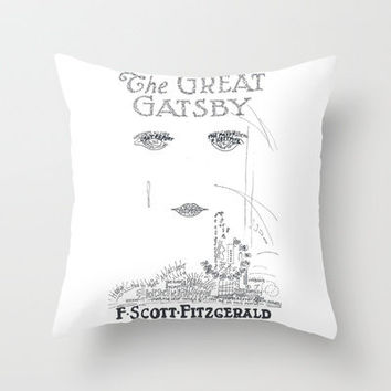 The Great Gatsby Throw Pillow by S. L. Hurd