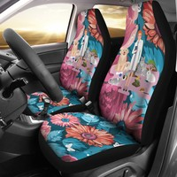 Floral Veterinarian Car Seat Covers