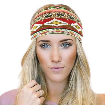 Bohemia Cotton Turban Paisley Ladies Headbands For Women Head Wrap