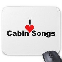 Bluegrass Music: I (heart) Cabin Songs Mouse Pad