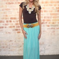 Stunning in Maxi Skirt Mint - Modern Vintage Boutique