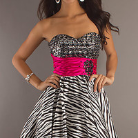 Short Zebra Print Party Dress