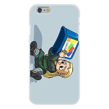 Apple iPhone 6 Custom Case White Plastic Snap On - 'I Lost My Blocks' Toy & Medieval TV Show Parody