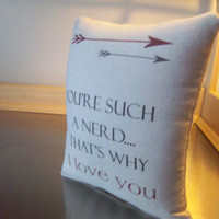 Valentine S Gift Boyfriend Nerd Pillow Cotton Canvas Throw