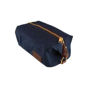 Waxed Canvas Dopp Kit- Navy