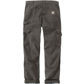 Carhartt Ripstop Cargo Flannel Lined Work Pant | Relaxed Fit | Gravel
