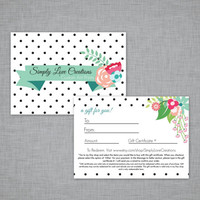 Gift Certificate - Wall Art Gift, Baby Shower Gift , Birthday Gift, Home Decor Gift