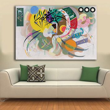 Dominant Curve by Wassily Kandinsky Decoration Paints Home Decor On Canvas Modern Wall Art Canvas Print Poster Canvas Painting