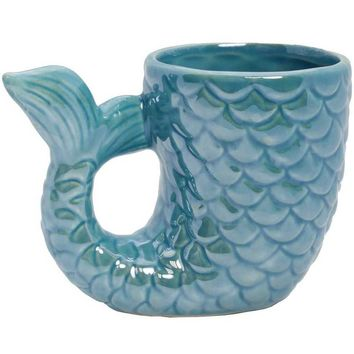 Mermaid Tail Ceramic Coffee Mug