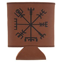 Vegvisir Viking Storm Compass Etched Leatherette Can Cooler