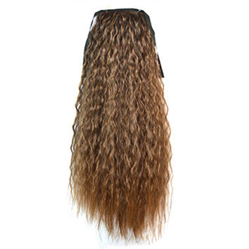 Wig Corn Perm Lace-up Horsetail 168-2T27#