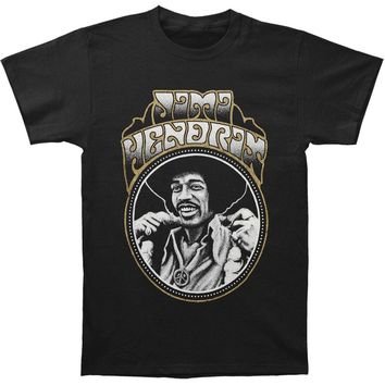 Jimi Hendrix Men's  Jimi Slim Fit T-shirt Black Rockabilia