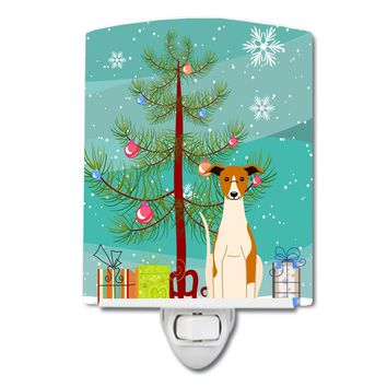 Merry Christmas Tree Whippet Ceramic Night Light BB4224CNL