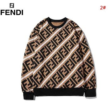 Fendi Autumn And Winter New Fashion More Letter Women Men Leisure Long Sleeve Top Sweater 2#