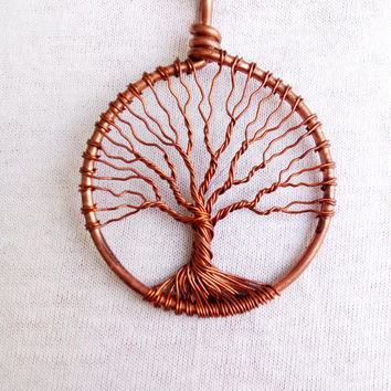 TREE OF LIFE  Pendant Handmade Tree Of Life  Pendant Unique Necklaces Wire Wrapped Cooper