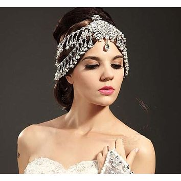 Bridal Headband Crystal Crown Tiara Bridal Hair Accessories Wedding Cosplay