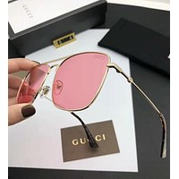 Gucci Trending Women Men Stylish Simple Summer Sun Shades Eyeglasses Glasses Sunglasses Pink I-A-SDYJ