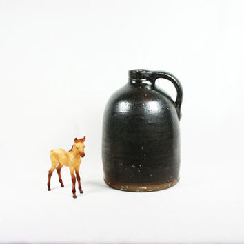 Vintage Antique Salt Glazed Stoneware Moonshine Jug