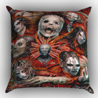 slipknot Z0403 Zippered Pillows  Covers 16x16, 18x18, 20x20 Inches