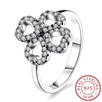Sterling Silver Women Double Ring