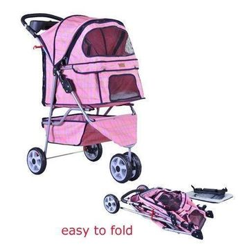 New BestPet all color 3 Wheels Pet Dog Cat Stroller Free RainCover