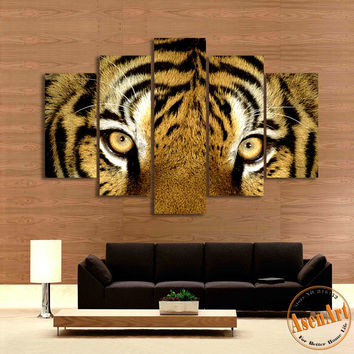 5 Piece Wall Art Tiger Picture Animal Painting Modern Art Picture for Bedroom Living Room Canvas Prints No Frame