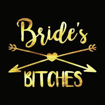 Gold Bride Tattoo Sticker Flash Temporary Tattoos bachelorette party Accessories Bridesmaid Bridal Shower Wedding Decoration Z3