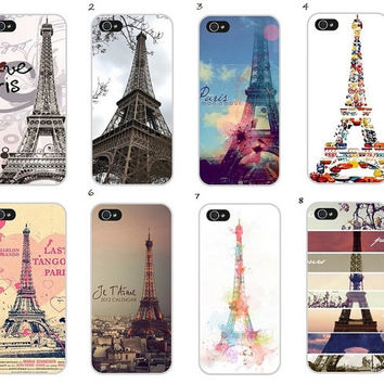 Fashion painted Eiffel Tower Design cases for iPhone 4/4S 5/5S