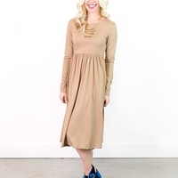Mabel Solid Fit & Flare Dress