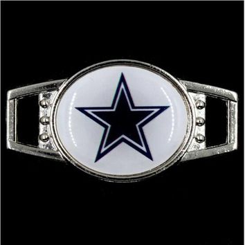 Hot Selling Dallas Cowboys Football Team Shoelaces Charms For Sport Shoes And DIY Hand Made Outdoor Paracord Charms Bracelets