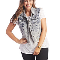 High-Low Denim Vest | WEt Seal+