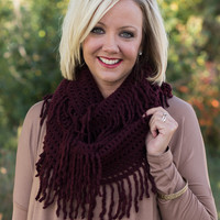 Back To Me Infinty Scarf - Burgundy