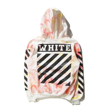 Autumn and winter new wave of licensing tie-dye dyed men and women lovers Hooded sweater Hooded jacket
