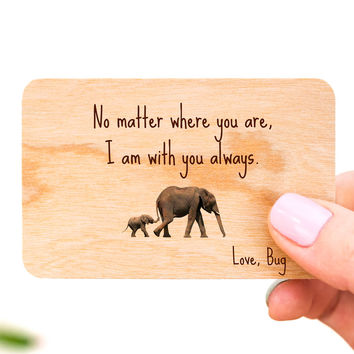 Personalized Wallet Insert Card, Wooden Wallet Card, Anniversary Gift for Man, Anniversary Card, Personalized Gift for Him, Wooden Keepsake