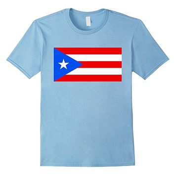 Flag of Puerto Rico T-Shirt 1x2 scale
