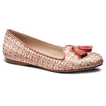 Worth II Smoking Shoe in Rose Raffia by Jack Rogers - FINAL SALE