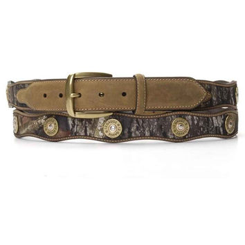 Nocona Western Belt Mens Leather Shotgun Shell 54 Camo