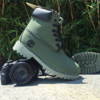 Timberland Rhubarb boots for men and women shoes waterproof Martin boots lovers Army green