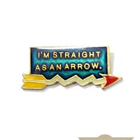 Straight As An Arrow Vintage Pin