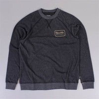 Brixton Grade Crew Heather Black