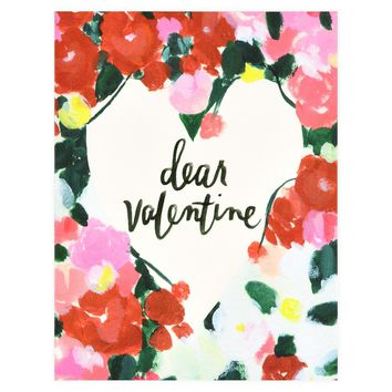 Dear Valentine Greeting Card