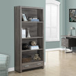 """Dark Taupe Reclaimed-Look 71""""H Bookcase with a Drawer"""
