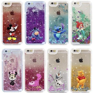 Cartoon Glitter Hard Case for iPhone X and others!
