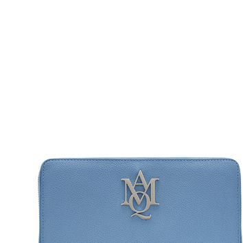 Alexander McQueen - Leather Continental Zip-Around Wallet with Logo Lettering